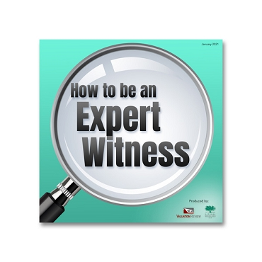 How to be an Expert Witness webinar