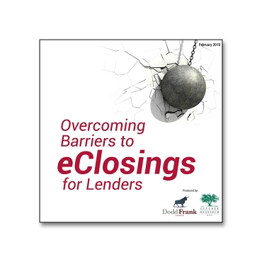 Overcoming Barriers to eClosings for Lenders webinar
